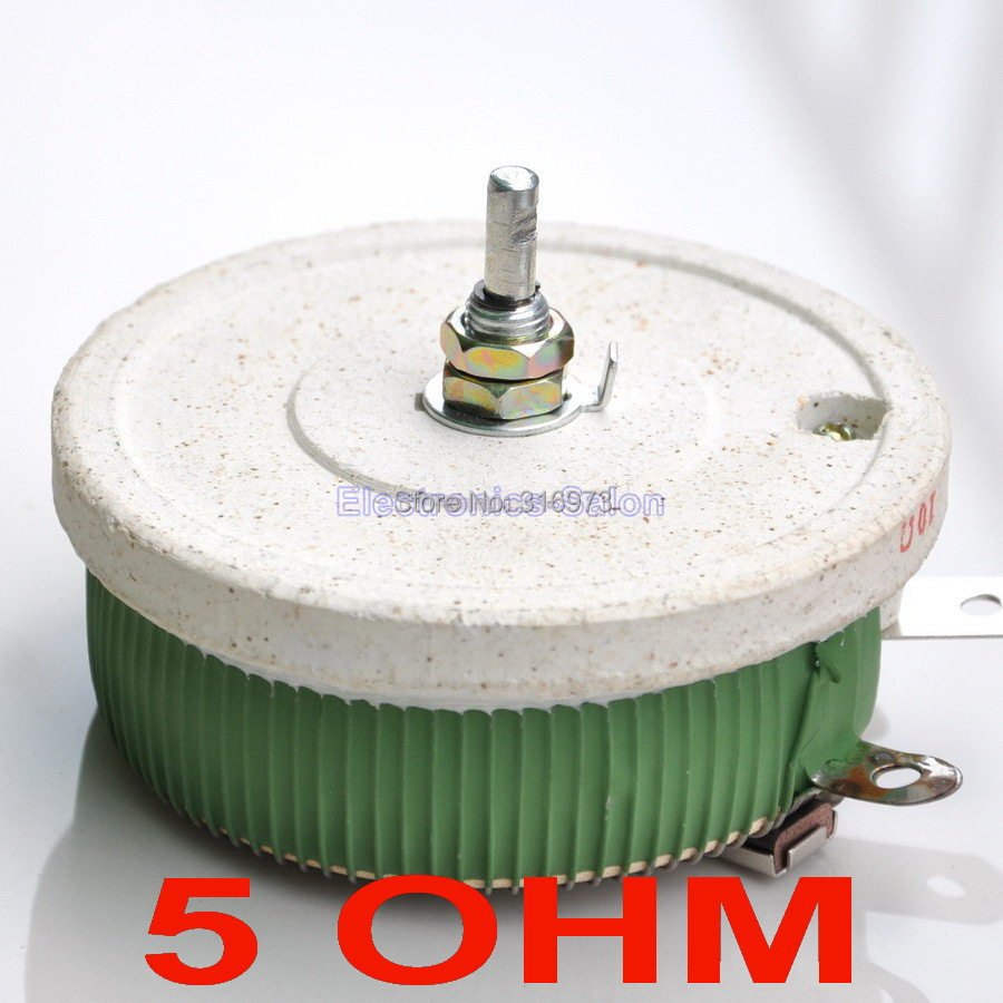 200W 5 OHM High Power Wirewound Potentiometer, Rheostat, Variable Resistor, 200 Watts.-in Potentiometers from Electronic Components & Supplies    1