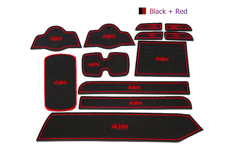 For Suzuki Alto 2013 Rubber Car Mat/Pad Gate Slot Non-Slip Car Accessories LHD Free Shipping 3Colors 12PCS