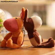 HANDANWEIRAN 1PCS New Big Ear Donkey Pendant Plush Toy Korean Version Of The Mini Cute Donkeys Toys Company Activities Gift 18CM michael frayn donkeys years