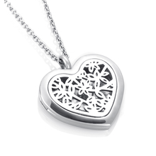 ijp0190 With free silver Chain Flower Aromatherapy / Essential Oils Stainless Steel Perfume Diffuser Locket Necklace Cheap sale