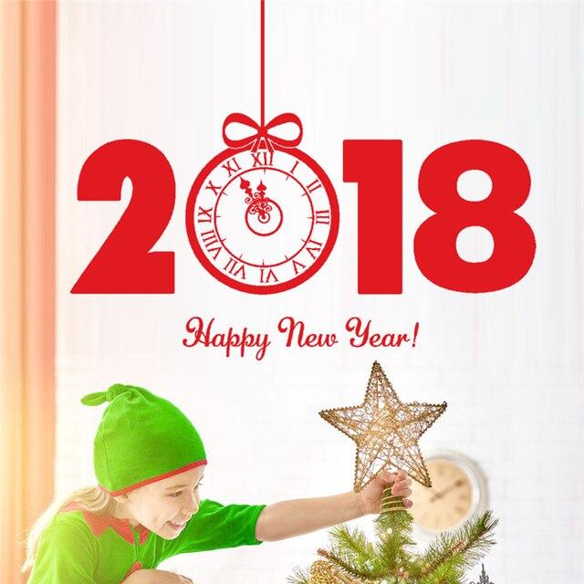 cadeau gratuit noel 2018 Kakuder muurstickers Heureux Nouvel An 2018 Joyeux Noël Arbre Wall  cadeau gratuit noel 2018