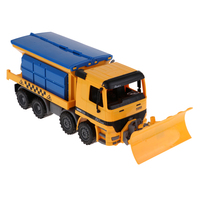 Snow Sweeper City Construction Snowplow Diecast Snow Blower Car Kids Toy, Multi function Self motion Construction Car Toy