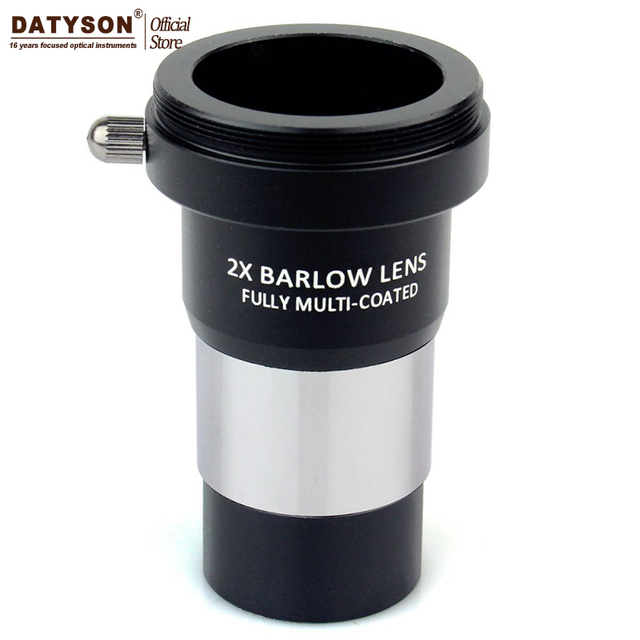 2x Barlow Lens Multi Coated T Adapter Double Lens for 1.25