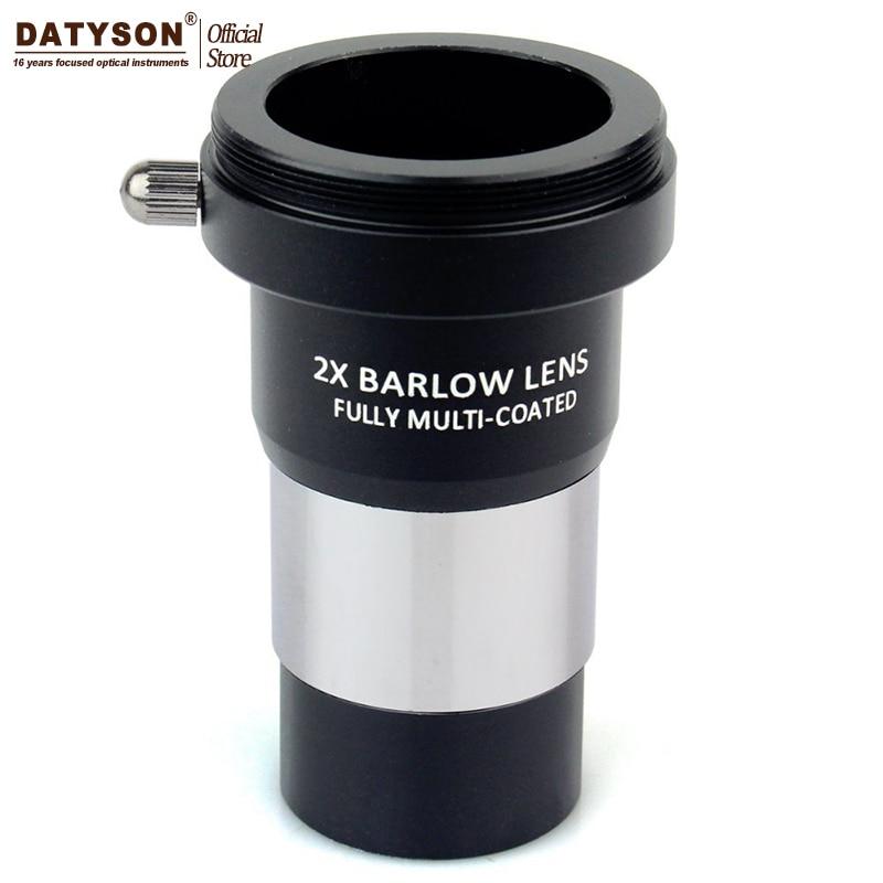 2x Barlow Lentille Multi Enduit T Adaptateur Double Lentille pour 1.25 Standard Astro Télescope Oculaire Oculaire