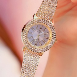 40mm Diamond Big Dial Women Watches Lady's Elegant Bangle Charm Watch Girl Fashion Casual Watches Montre Femme Fashion Watches
