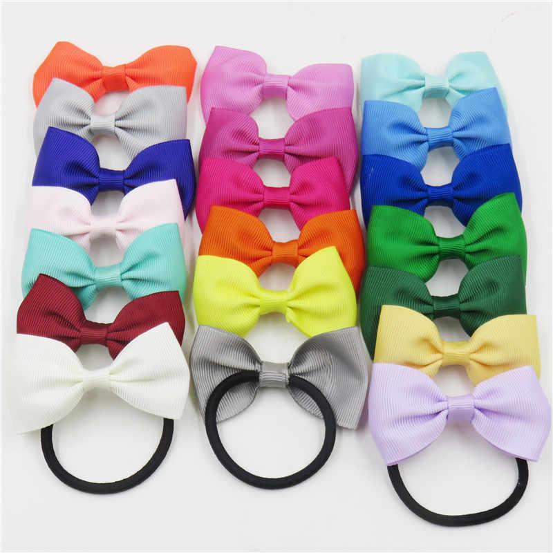 1 Uds sólido elástico colorido bandas para el cabello listón para chicas arcos pelo anillo corbata accesorios para el cabello, cuerda sombreros mejor regalos de vacaciones