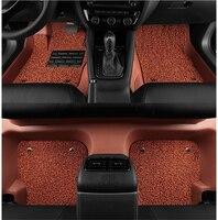 Авто Коврики для Land Rover Range Rover Evoque 2011 2017 футов ковры автомобиля Шаг Коврики доказательство воды кожа Провода катушки 2 Слои