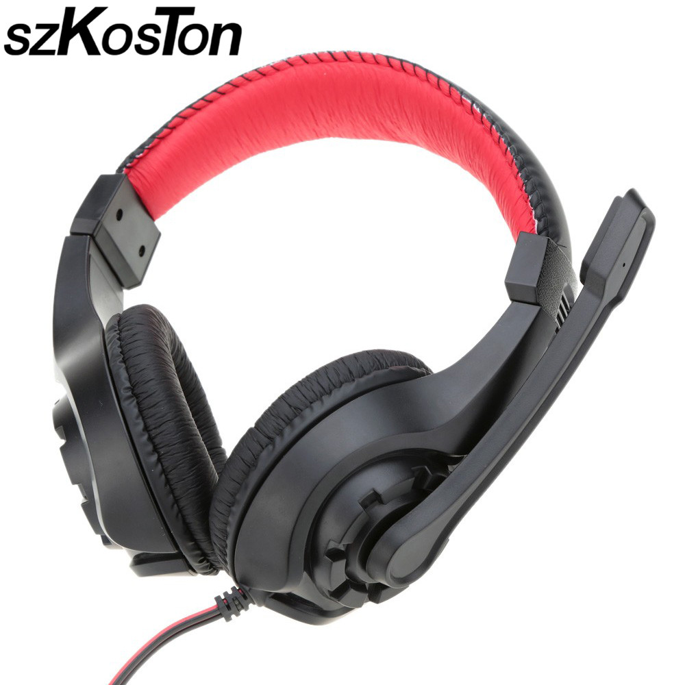 Stereo Gaming Headset Wired earphone Game headphone with microphone noise canceling headphones for computer pc game music super bass gaming headphones with light big over ear led headphone usb with microphone phone wired game headset for computer pc