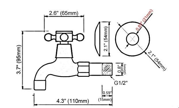 Black Oil Rubbed Bronze Single Cross Handle Bathroom Mop Pool Faucet /Garden Water Tap / Laundry Sink Water Taps mav339