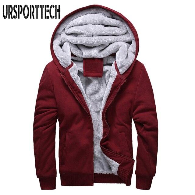 2017 caliente de los nuevos hombres con capucha de marca Casual Hoodies  ropa para hombre invierno revestimiento de lana engrosamiento de la capa  caliente ... 685851766dd9