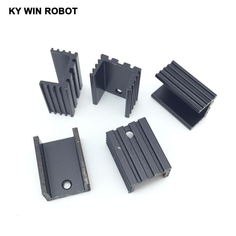 5pcs Free Shipping Aluminium TO-220 Heatsink TO 220 Heat Sink Transistor Radiator TO220 Cooler Cooling 20*10*15MM