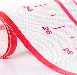 Image 5 - Mata silikonowa do pieczenia do wyrabiania ciasta podkładka ze skalą Rolling NonStick ciasto Liner forma do pieczenia kuchnia akcesoria do pieczenia