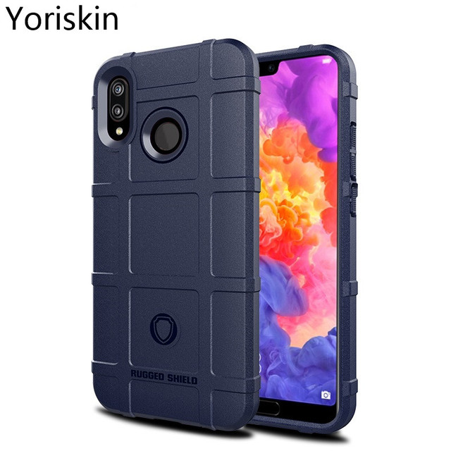 New 360 Degree Protective Rugged Armor Shock Proof Cover For Huawei P20 Lite Nova 3e Silicone Soft Heavy Duty Slim Back Case
