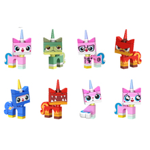 8PCS/LOT Legoing Super Heroes Movie Series Unikitty With Teary Eyes Unicorn UniKitt Dolls Building Blocks Kids Gift Toys BKX70