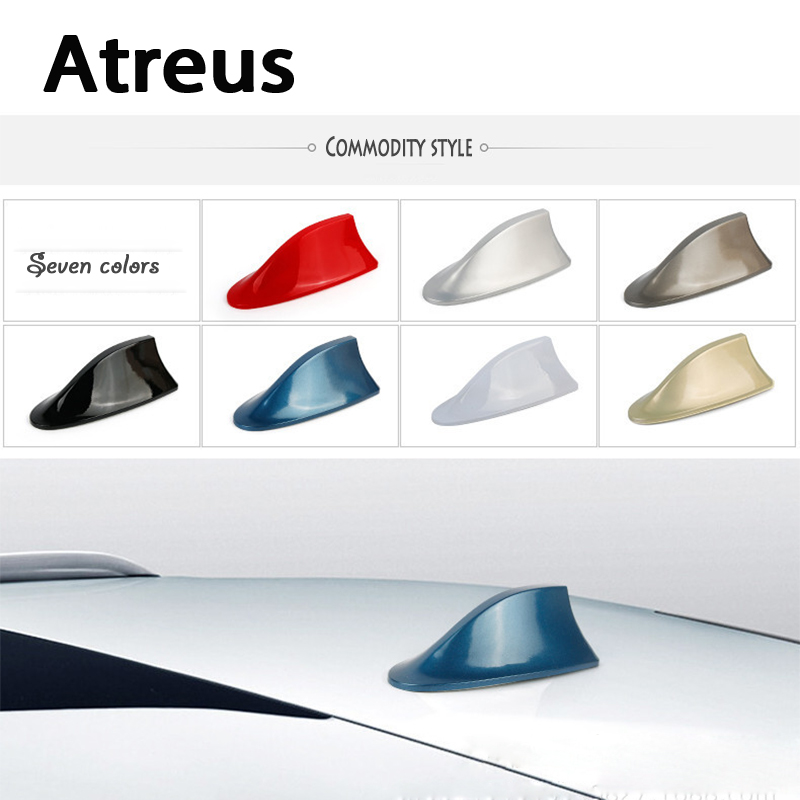 Atreus Car Shark Fin Antenna Radio Signal Antenna Stickers For VW polo passat b5 b6 Mazda 3 6 cx-5 Toyota corolla Ford focus 2 3 car shark fin antenna radio signal refitting accessories for toyota corolla rav4 yaris prius hilux avensis camry car styling