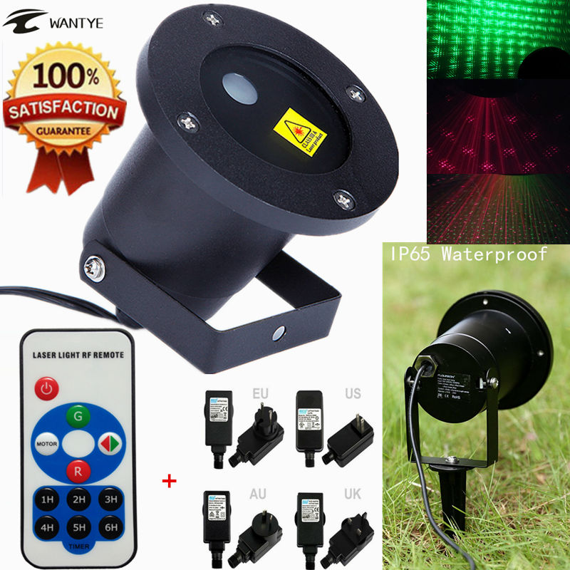 ФОТО Outdoor LED Stage light IP65 Waterproof IR Remote Control Show Red Green Laser Party Landscape Lights For Garden Lighting