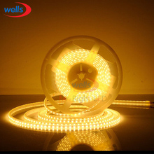 5M Superbright 5mm High Bright 3014 SMD 120leds/M Warm White LED Strip 12V DC WP
