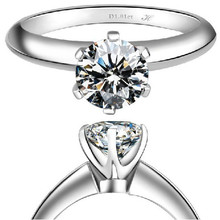 2Ct Solid Gold 750 Six Prongs Solitaire Ritzy G-H Color Moissanite Anniversary Ring Best Propose Pure Gold Party Gift For Girl