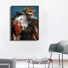 Time Unveiling Truth by Batoni  Wall Art Canvas Poster and Print Painting Decorative Picture for Living Room Home Decor