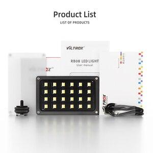 Image 2 - Viltrox luz de led portátil, luz de preenchimento de luz embutida para vídeo rb08 2500k 8500k bateria para câmera de celular estúdio de tiro
