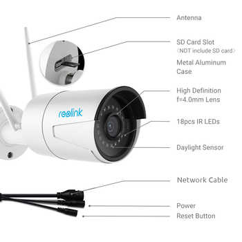 Reolink RLC-410W-4MP Dual WiFi 2.4G/5G Surveillance Outdoor Camera 2560 x 1440 HD IP Cam Wireless Weatherproof Security Camera