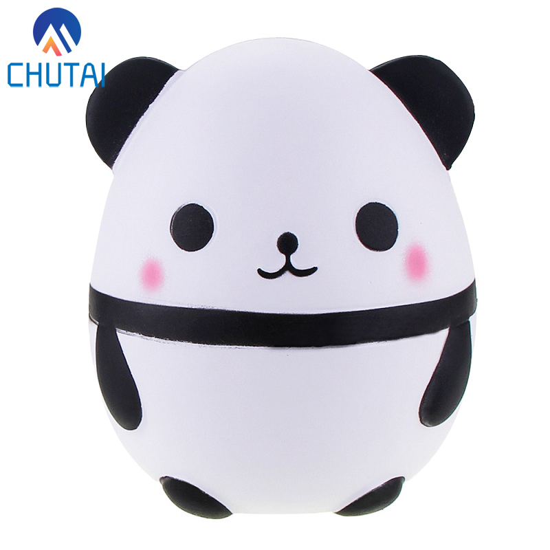 Jumbo 12CM Cute Panda Bear Egg Squishy Slow Rising Squeeze Toys Soft Stretchy Scented Stress Relief Toy Xmas Decor Gifts 12*8CM