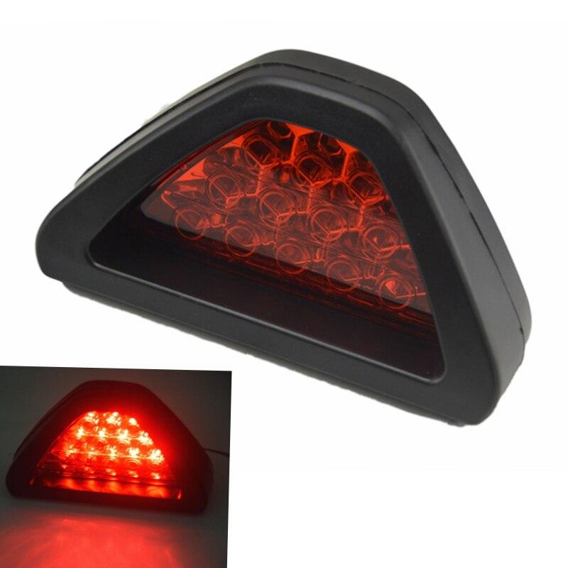 Universal External Lights 12 LED Car Brake Reverse Lamp Vehicle Warning Strobe Flash Light F1 Style car styling free shipping