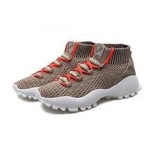 2018 осенние и зимние Новые легкие вразлёт, плетение Мужская обувь дышащие кроссовки для бега