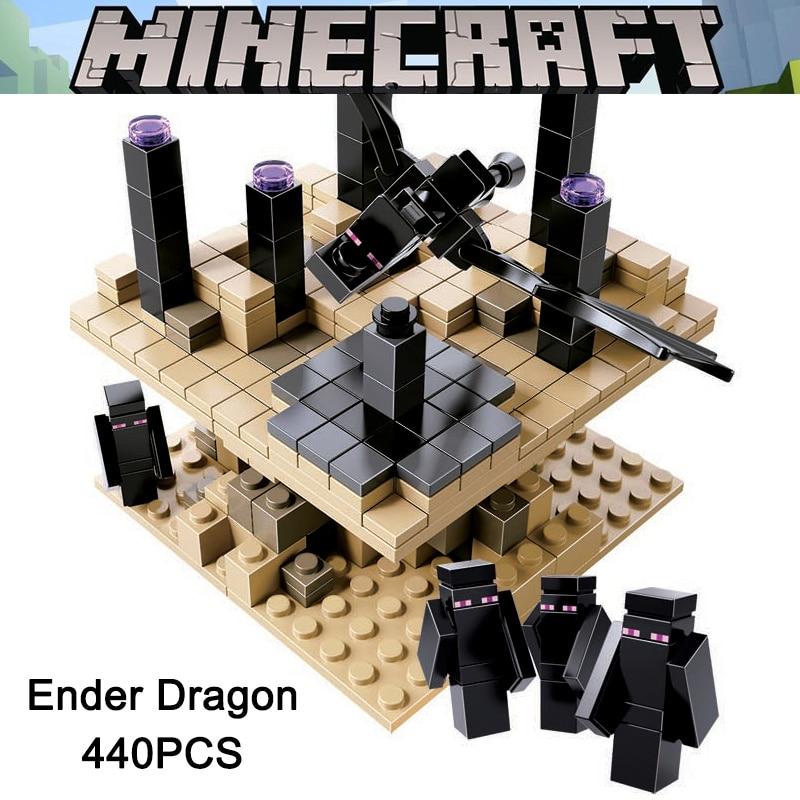 2018 Nouveau Minecrafted 21107 Ender Dragon Enderman Mon Monde Zombies Action Figure Blocs de Construction Briques Jouets