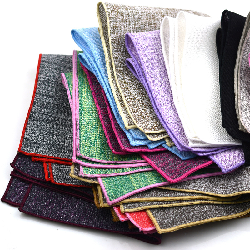22*22 Hankerchief Cotton Men Hanky Cotton Pocket Towel Banquet Wedding Accessories Small Square Towel Pocket Squares Banquet