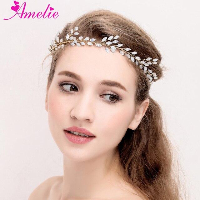 Amelie Handmade Regal Headpiece Bridal Opal Crystal Hair Accessories Water  Drop Shape Women Headband Prom Halo Women Hairband af1d656e5f2