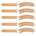 10 unids/lote tradicionales clásicos de madera DIY Tomas y amigos ferrocarril vía del tren juguetes para el bebé