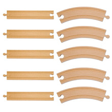 10pcs lot Classic Traditional DIY Wooden Tomas and Friends Railway Train Track font b Toys b