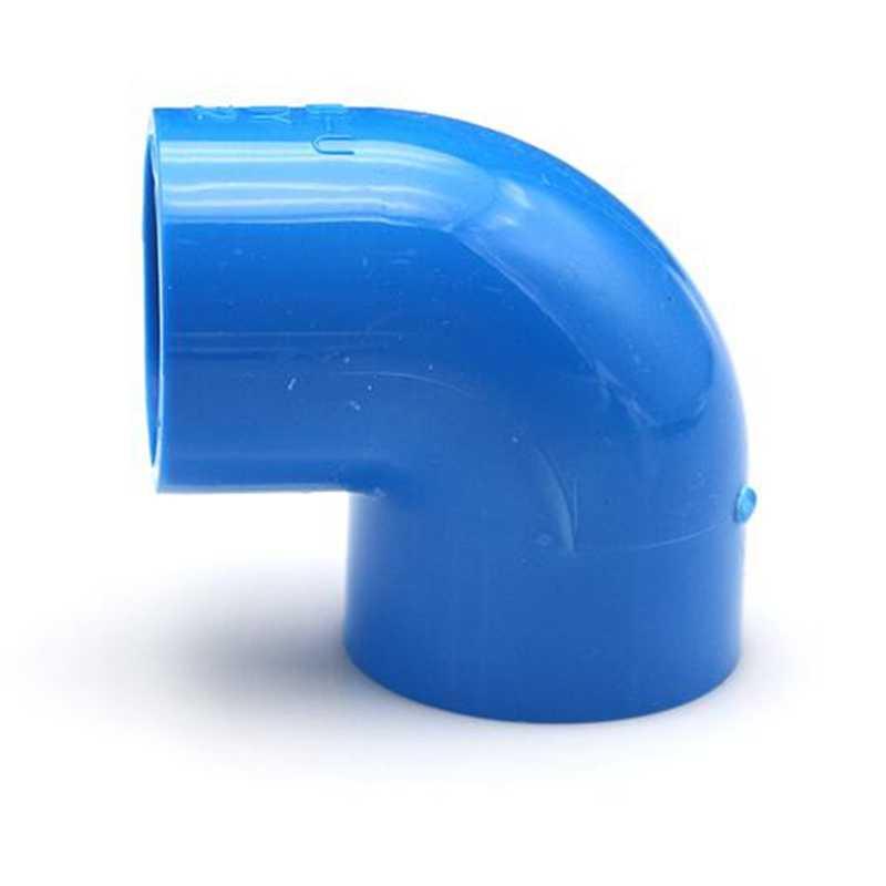 Pvc Waterleiding Fittingen Blauw Rechte Elleboog Effen Gelijke Tee Vier-Way Connectors Plastic Joint Irrigatie Water Delen