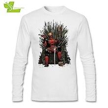 Чимичанги идут футболка для взрослых последние футболка с принтом Для мужчин с длинным рукавом teenboys Топ Дэдпул игра трон
