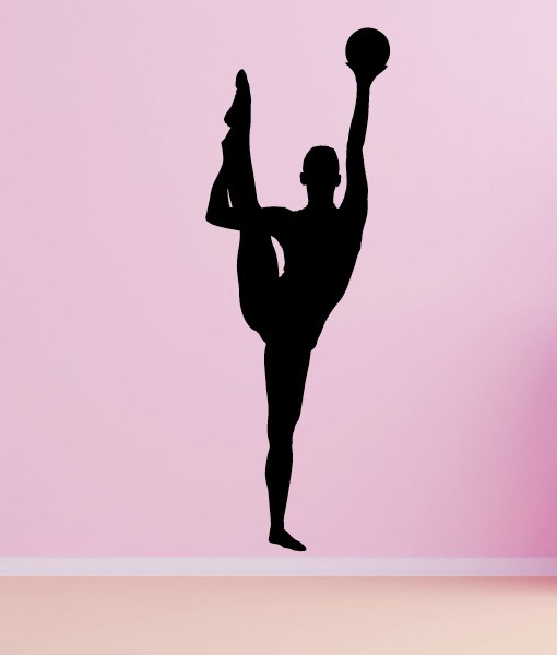 Rhythmic Gymnastics with Ball Wall Decal Living Room Home Decor ...