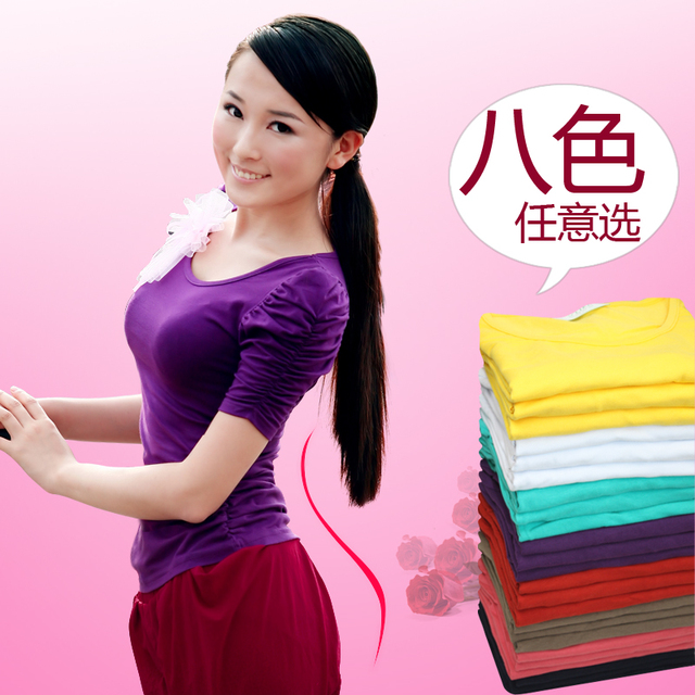 9.99 summer 2013 spring summer bubble short-sleeve T-shirt