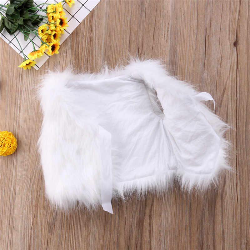 Детский зимний теплый жилет из искусственного меха для девочек жилет для малышей Детское пальто укороченный топ, верхняя одежда
