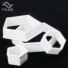 TTLIFE New 4pcs Football Fondant Mold Cookie Cutter Cake Decor Tools Bakeware Printing Model