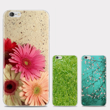 New Arrival Beautiful Flower Painting Soft TPU Phone Cases For iphone 7 4s 5s SE 6
