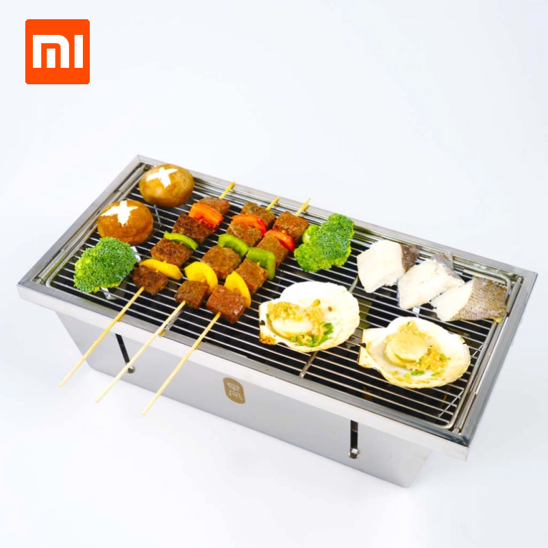 Xiaomi Zaofeng BBQ Portable Grill Stainless Steel Folding Barbecue Stove Charcoal Barbecue Rack For Camping BBQ Tools yves de sistelle парфюмированная вода doriane 100 ml page 2