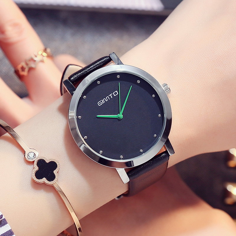 GIMTO Casual Colorful Dress Women Watches For Girls Quartz Watch Leather Strap Wristwatch Women's Watch Luxury Brand Watch Women new 2015 led watch women kids watch fashion casual cartoon watches colorful rainbow girls