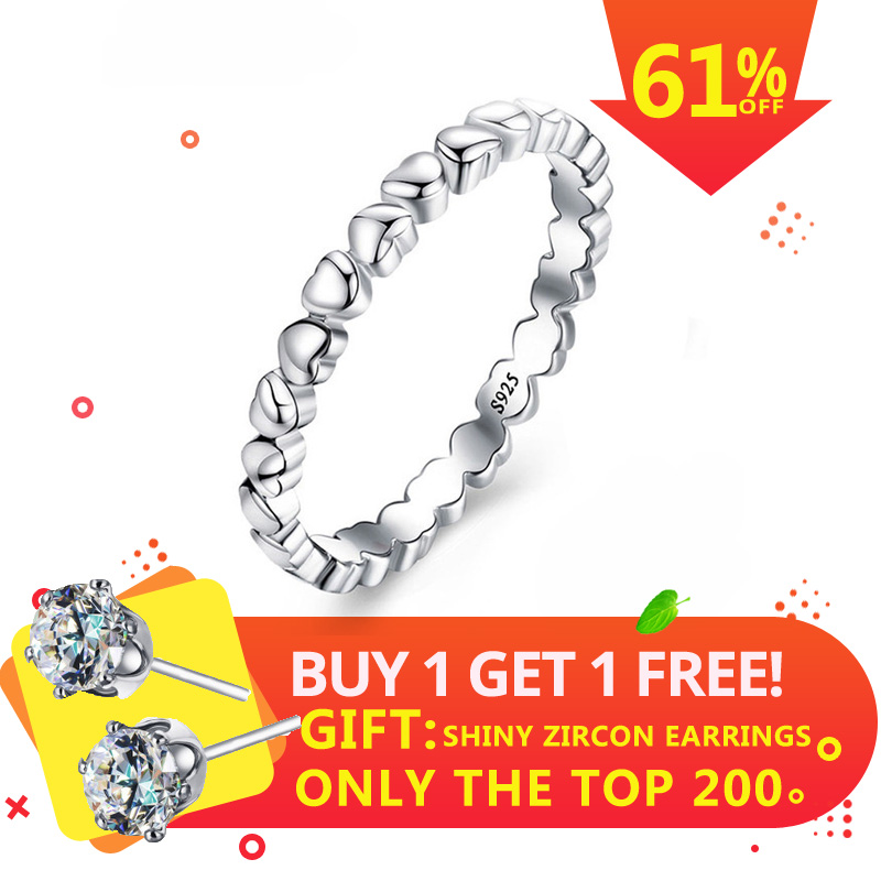 Dainish Silver 925 Jewelry Heart Ring Forever Love Heart Finger Ring  Jewelry Christmas & Valentines Day Gift Rings for WomenDainish Silver 925 Jewelry Heart Ring Forever Love Heart Finger Ring  Jewelry Christmas & Valentines Day Gift Rings for Women