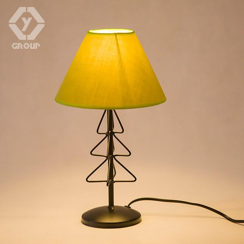 Oygroup Винтаж Настольная лампа Мода Столик Прикроватный светильник тумбочка стол выключатель света Abajur # OY16T19