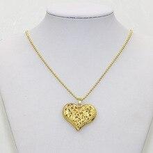 Korean pierced Heart Necklace leaves love retro sweater chain Europe new jewelry Z3224