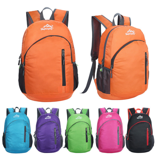 Durable Waterproof Folding Packable Lightweight Backpack Outdoor Men Women  Travel Hiking Backpack Daypack Luggage Shoulders Bag-in Climbing Bags from  Sports ... f024c0c774c1e