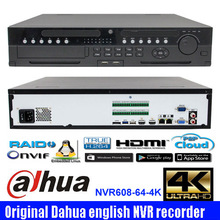 New arrival Original English firmware Dahua 4K NVR with 8 hot-swap HDDs two way talking NVR608R-64-4K