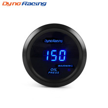 """Dynoracing """" 52 мм Датчик давления масла цифровой 0-150PSI датчик давления масла синий светодиод с датчиком автомобильный измеритель BX101464"""