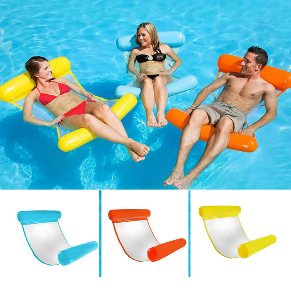 6 Colors Foldable Pool Rafts Swimming Pool Chair Water Leisure Seat For Grownups And Kids High Strength Bearing Summer Toys 30