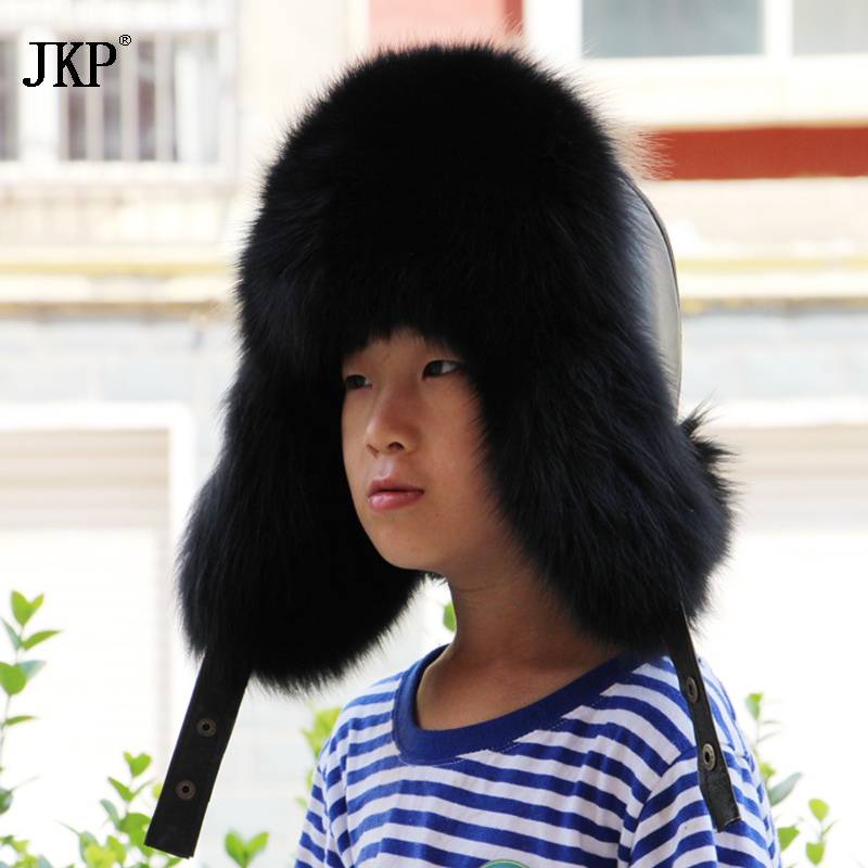 ce8e8c0cba3 Real hot baby fox fur hat girls children winter ears Leifeng Protector Caps  Children Children Earflap Hats -in Hats   Caps from Mother   Kids on ...